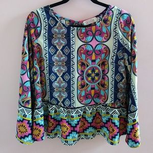 NWOT Willa Boutique Blouse S